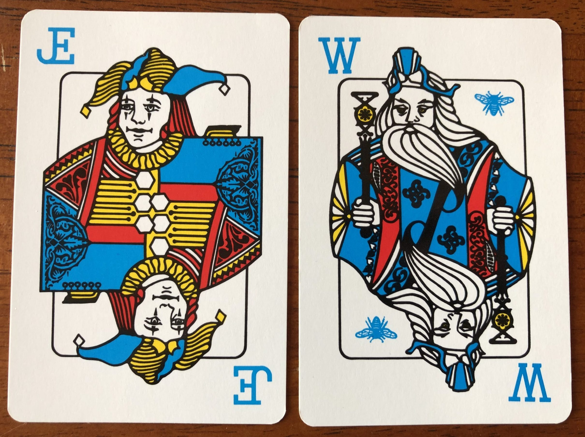 Jester card and Wizard card, for Wizard card game